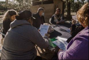 Celebrando solidaridad con la comunidad San Miguel Guerrero